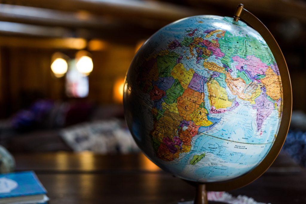 Globe of the world - sustainability goals
